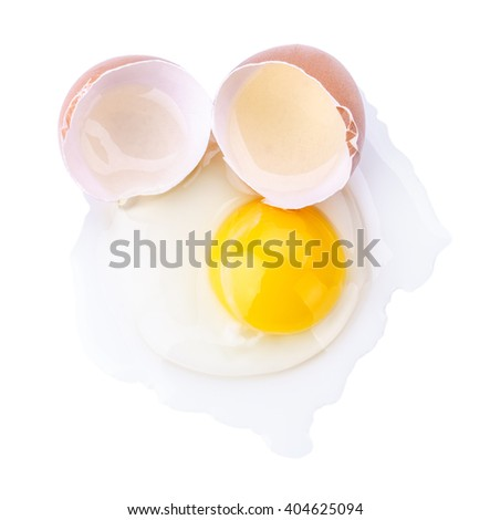Egg isolated on a white background raw clipping path