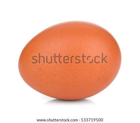 Egg. Isolated on white background - stock photo