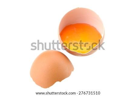 egg isolated on white background - stock photo