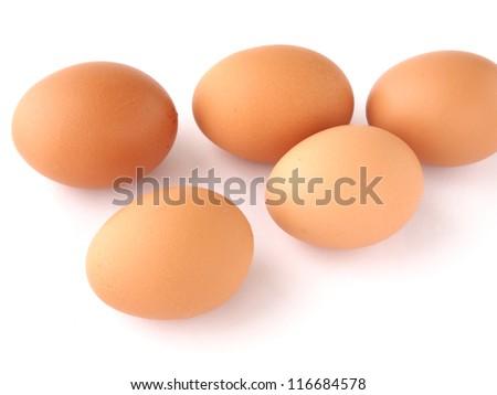 egg isolated white background - stock photo