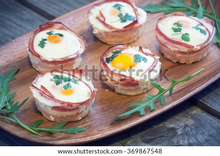 egg muffins - stock photo