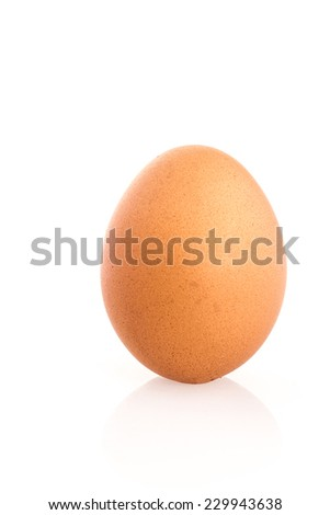 egg on white isolated  - stock photo