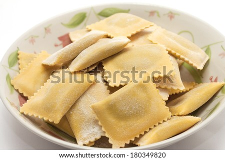 Stuffed pasta stock images royalty free images vectors for Pumpkin cannelloni with sage brown butter sauce
