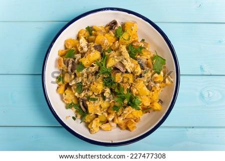 Egg Potato Tapas - stock photo