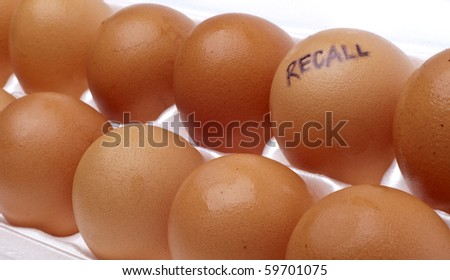 Egg Recall Concept Image with Brown Eggs in a White Carton.