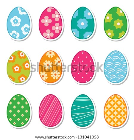 egg stickers (raster version of the vector)