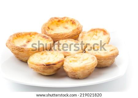 egg tart  - stock photo