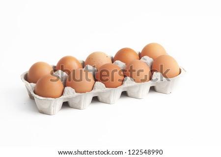 egg ten - stock photo