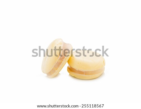 Egg Tofu on white background