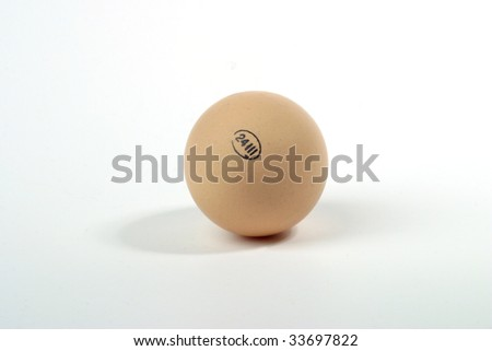 Egg with stamp