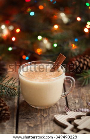 Eggnog stock photos royalty free images vectors shutterstock - Traditional eggnog recipe holidays ...