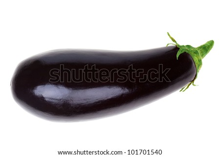 eggplant isolated on a white background - stock photo