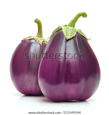 eggplant isolated on white background - stock photo
