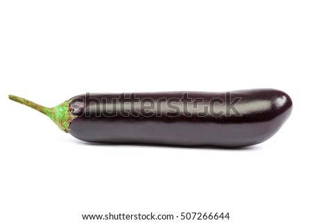 Eggplant isolated on white background. Fresh vegetables.