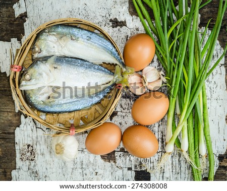 Eggs and fish - stock photo