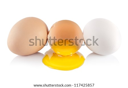 Eggs and yellow yolk