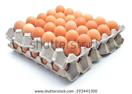 eggs carton - stock photo