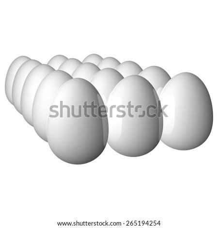 Eggs Food - stock photo
