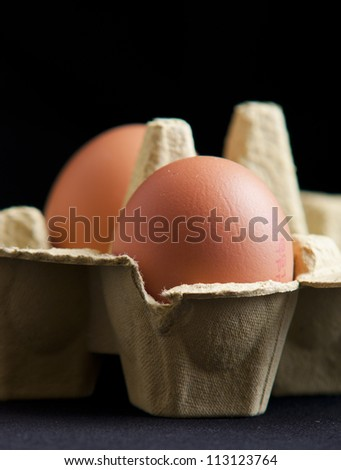 eggs in a package - stock photo