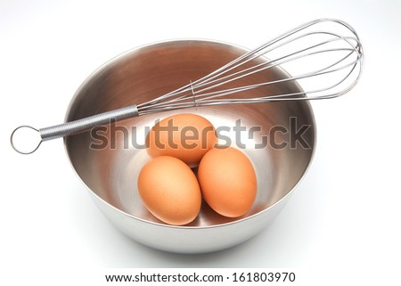 Eggs in bowl with whisk