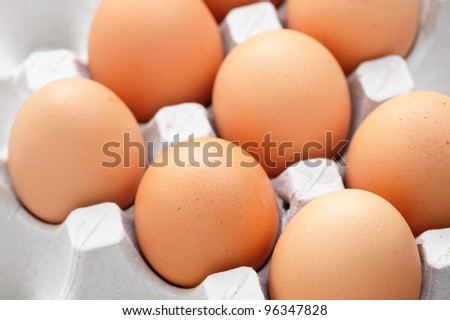 eggs in box - stock photo
