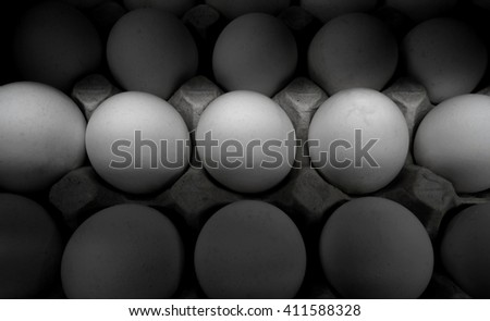 Eggs in carton tray detailed texture background