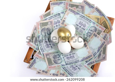 Eggs in the nest - stock photo