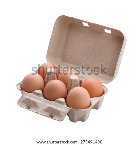 eggs in the package  - stock photo