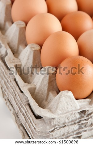 Eggs in tray,closeup