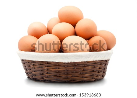Eggs isolated on a white background. - stock photo