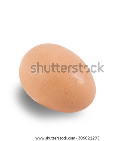 eggs isolated on white with clipping path