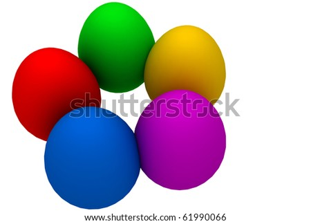 Eggs making a round to show unity