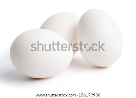 Eggs on White Background  - stock photo