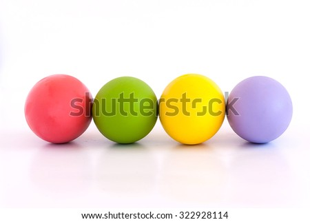 eggs with color white background