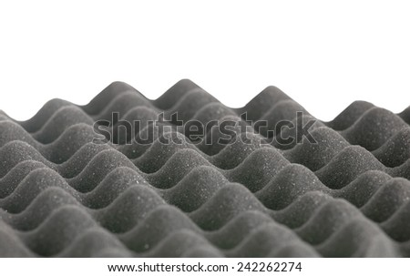 eggshell grey foam border isolated on white background - stock photo