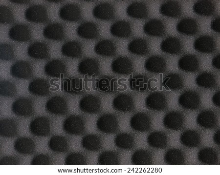eggshell grey foam square background top view - stock photo