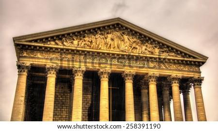 Eglise de la Madeleine in Paris, France - stock photo