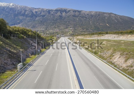 Egnatia street in Dodoni junction Ioannina Greece - stock photo