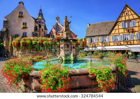 Eguisheim, Alsace, France - stock photo