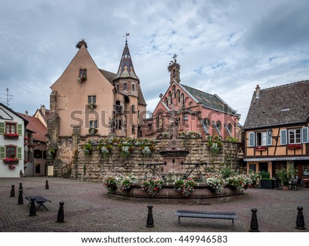 EGUISHEIM, FRANCE - CIRCA JUNE 2016: Eguisheim Alsace, France