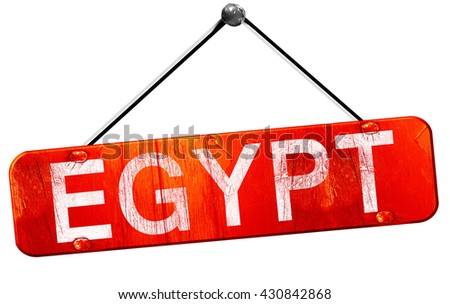 Egypt, 3D rendering, a red hanging sign
