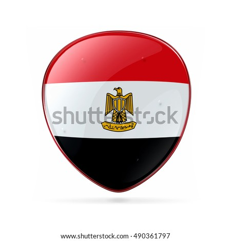 Egypt Flag icon, isolated on white background.