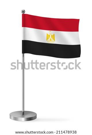 Egypt flag - table flag - stock photo