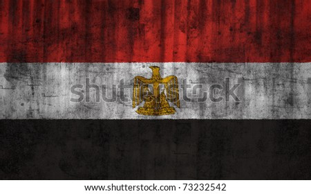 Egypt grunge flag - stock photo