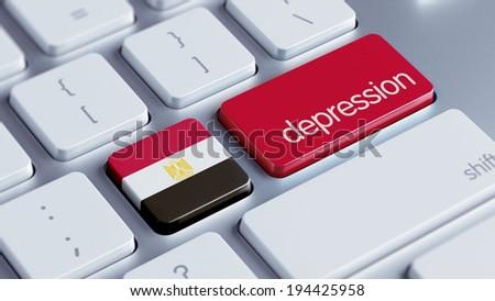 Egypt High Resolution Depression Concept - stock photo