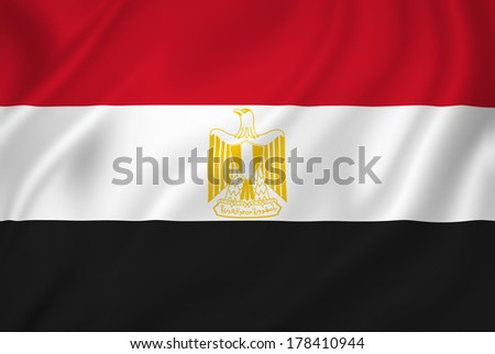 Egypt national flag background texture. - stock photo