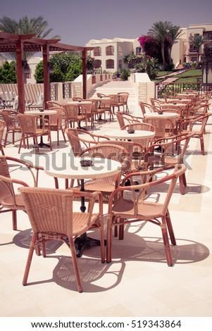 egypt sharm el sheikh july 23 2015 outdoor restaurant coffee open air - Tropical Cafe 2015