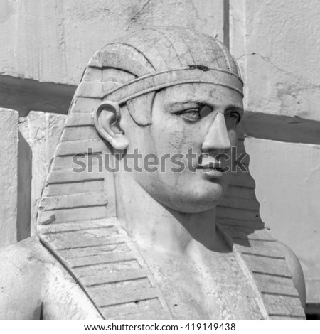 Egypt statue of Ramses the Great  - stock photo