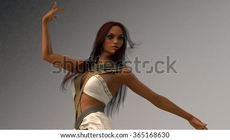 Elf Girl Isolated On White Stock Photo 64282828 Shutterstock