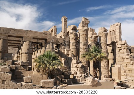 Egypt. Temple of Karnak - stock photo